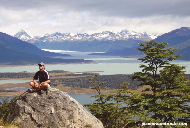 Desde el Cerro Cristal (vista del Perito Moreno y los lagos Roca y Rico), Calafate
