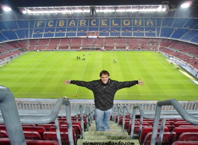 En el Camp Nou, estadio del Barcelona