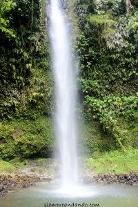La cascada Hola Vida, donde se puede bañar.