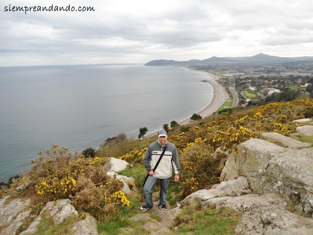 Vistas de la bahía en Dalkey.