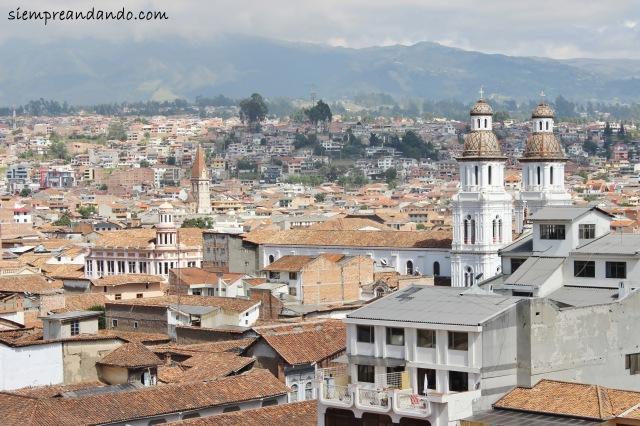 Vistas de Cuenca desde lo alto de la Catedral de la Inmaculada Concepción