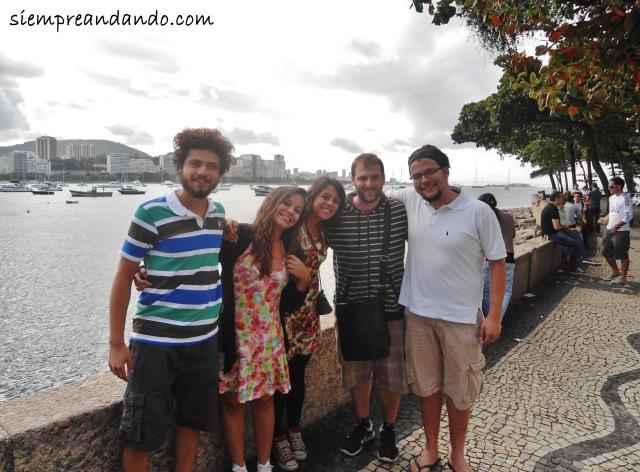 Junto a Danilo, Aline, Emilia y Kadu en Río.