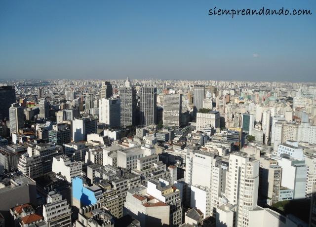 Vista de Sao Paulo desde la terraza del Edificio Italia
