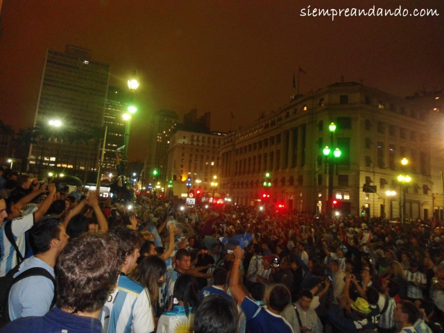 Festejos en Sao Paulo tras el pase a la final.