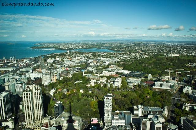 Vista de Auckland desde el Sky Tower.