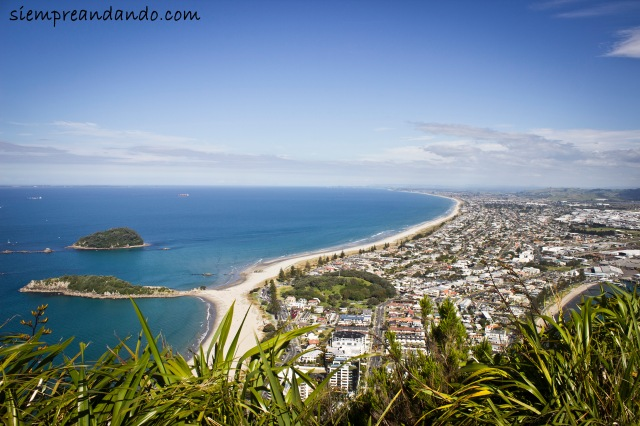 Vista de Mount Maunganui en Bay of Plenty.