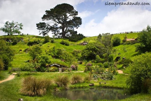 La mágica aldea de Hobbiton, uno de los lugares de filmación de El Señor de los Anillos y El Hobbit, en Matamata.