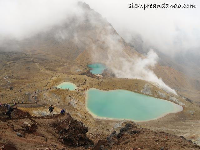 Lagunas Esmeralda durante el Tongariro Alpine Crossing.