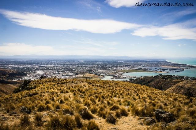Una vista de la ciudad desde Christchurch Gondola.