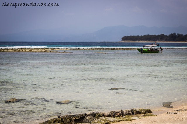 Otra playa de Gili Trawangan.