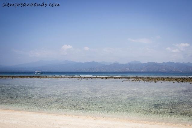 Una de las playas de Gili Trawangan,